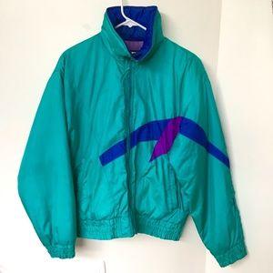 Vintage Sun Ice Ski Jacket Teal Purple Blue Bomber style Size 10